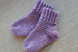 Bløde sokker i baby merino