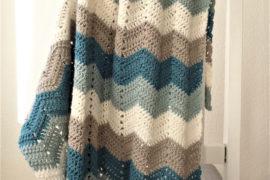 Hæklet zigzag-tæppe