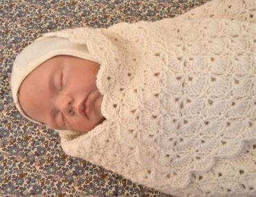 hæklet babysvøb, Luksuskrea
