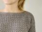 Hæklet trøje med struktur
